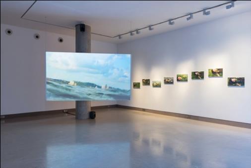 Chikako Yamashiro,  Seaweed Woman , 2018. Installation view at White Rainbow, London, UK, 2018 © Chikako Yamashiro, Image: Damian Griffiths