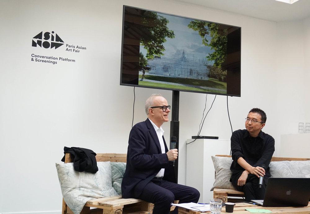 Hans Ulrich Obrist, Artistic Director of the Serpentine Galleries, Sou Fujimoto, Architect
