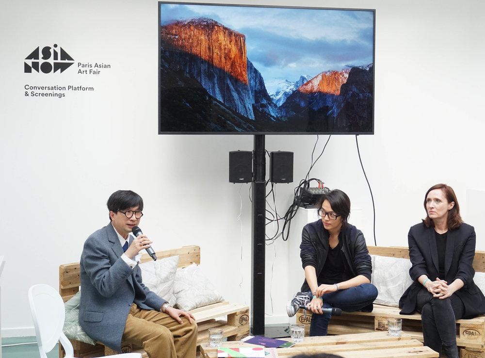 Felicitas Yang, film director, Martina Köppel-Yang, art historian, Lin Zuqiang, art critic