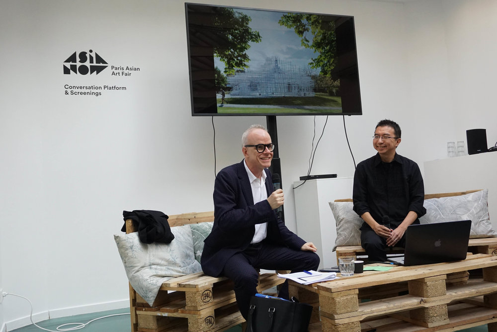Sou Fujimoto, Architect and Hans Ulrich Obrist, Artistic Director at the Serpentine Galleries, London