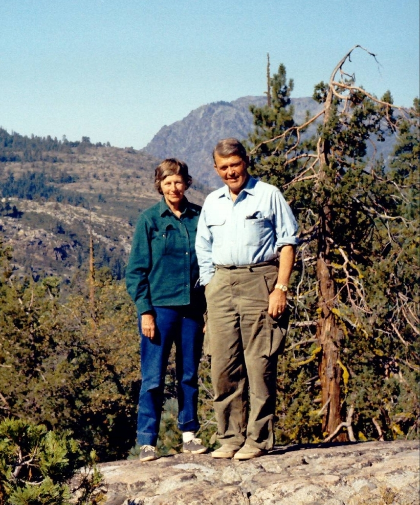 Flora and Bill Hewlett in the Sierra, circa 1973