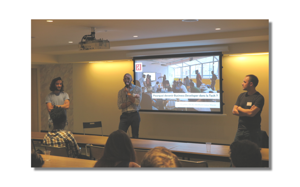 Deux événements chaque semaine avec des pairs et experts sales et business de la Tech