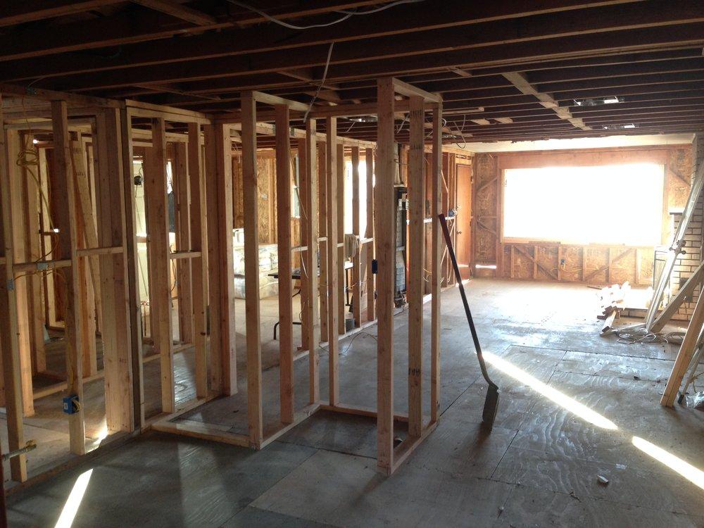 Framing - Living Room