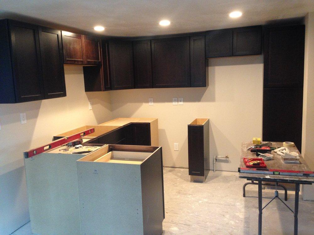 Cabinet Install - Kitchen