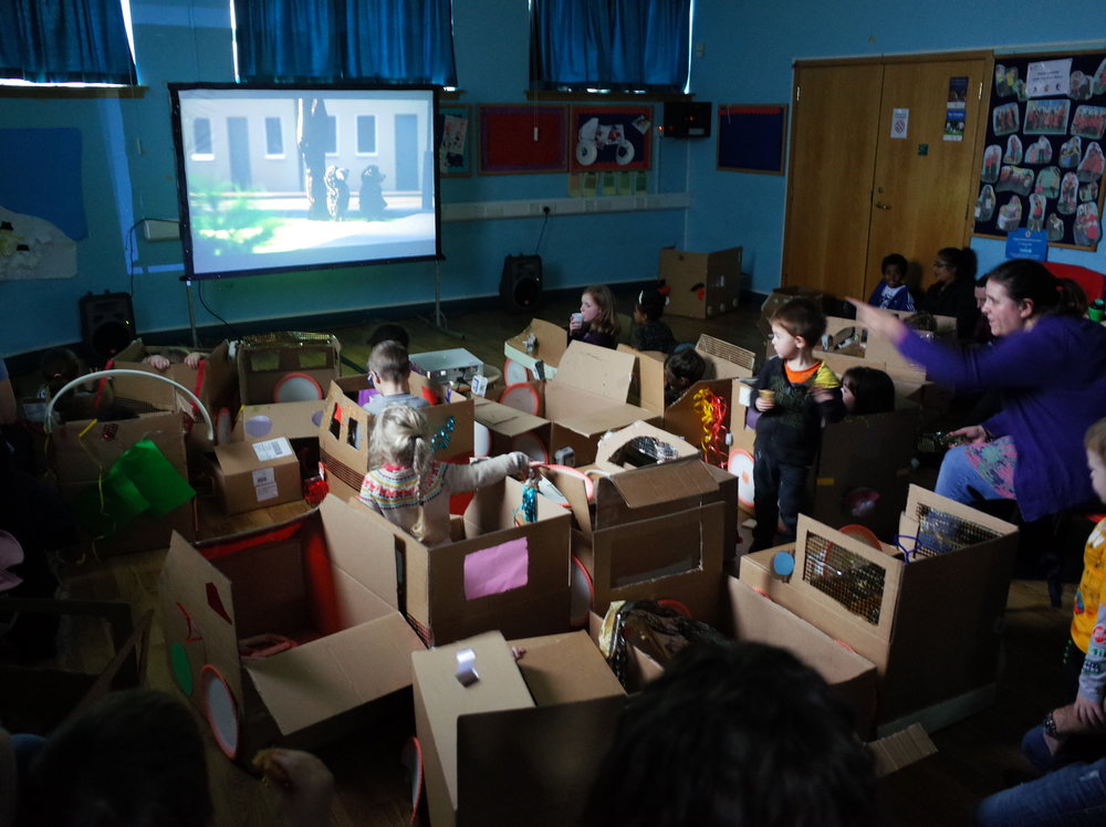 DIY Drive In at Thimblemill Library