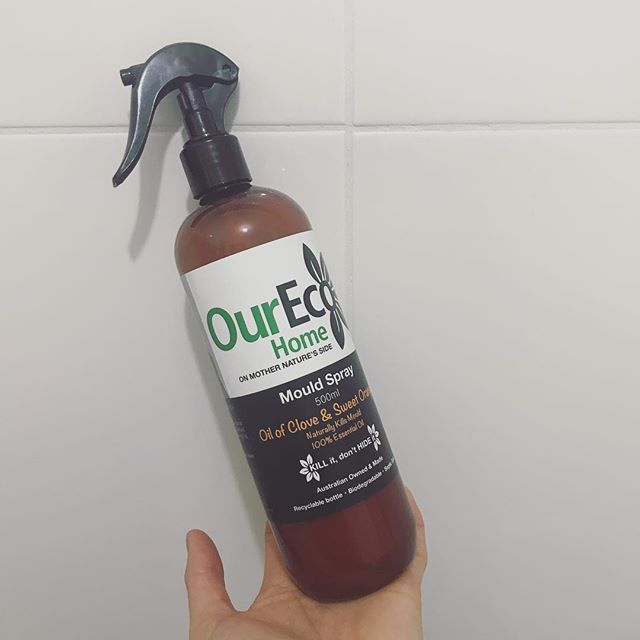 Pretty impressed with this clove oil and orange🍊mould spray by @oureco_home_hk. In comparison to the bleach smelling competitors, I'd pick this every time. Plant based 🌱100% essential oils, septic safe 👍🏼Next time I'll take some before and after pics. . . . #naturalcleaning #nativetwo #essentialoils #sustainableproducts #handmade