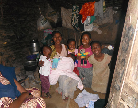 Saidi's whole family inside his house