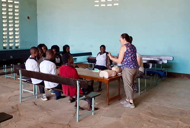 Teaching First Aid at Utange Baptist Primary School