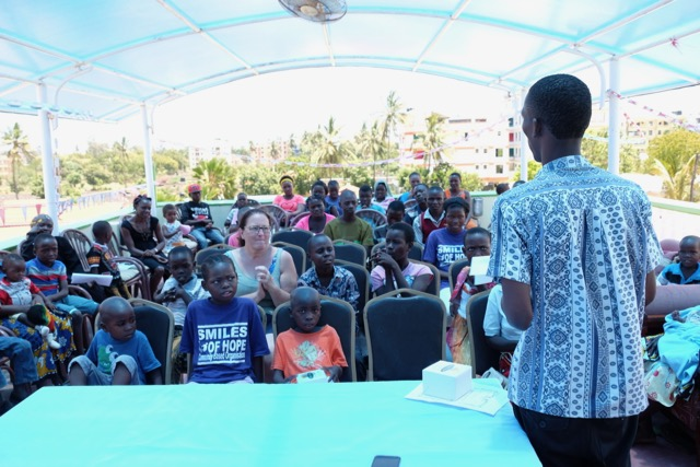 Emmanuel Kai speaking to the group
