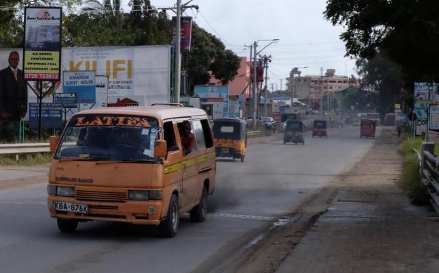 A Matatu traveling through Mtwapa