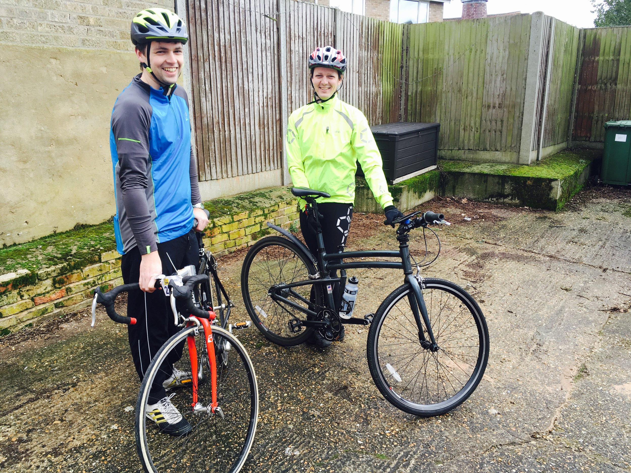 James and Rich preparing for a training cycle!