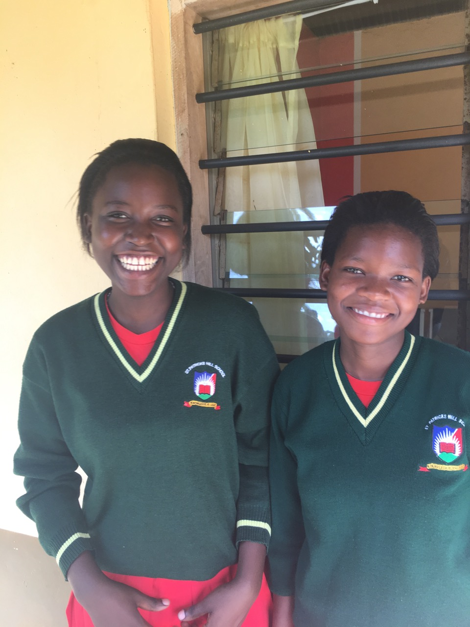 Linet (left) and Peris (right) at their school.