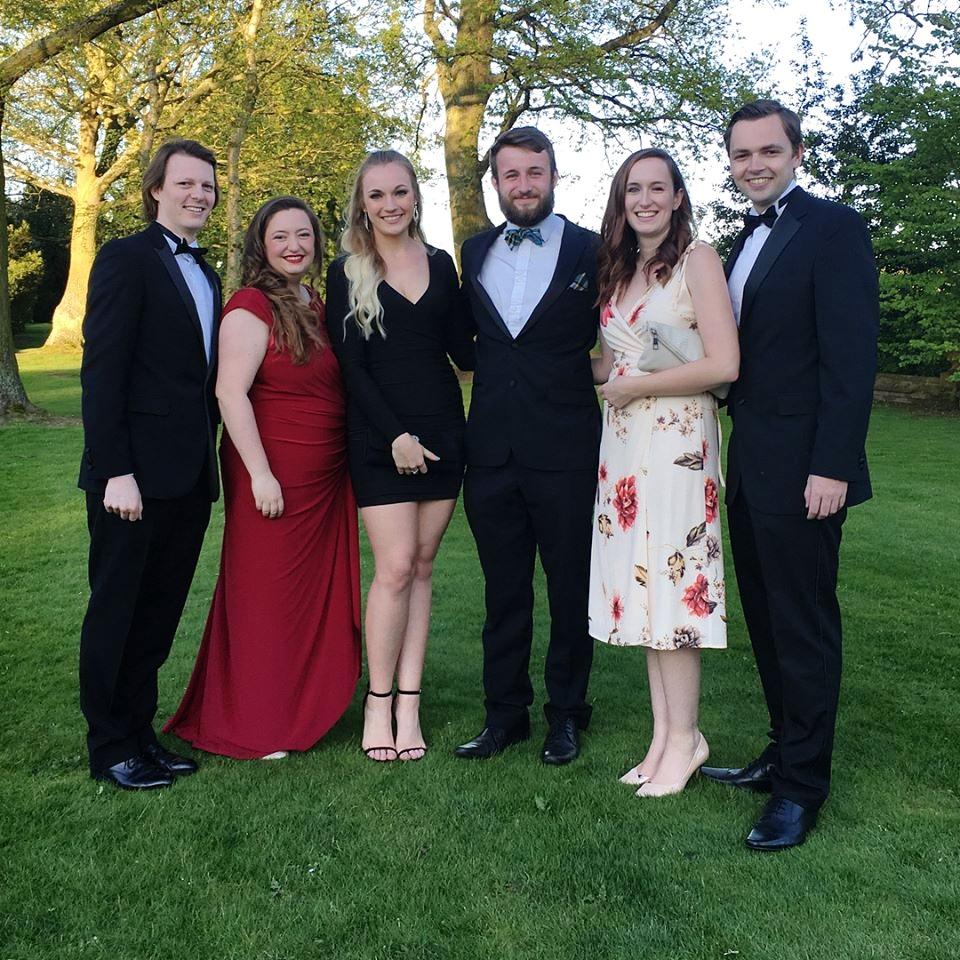 Norwich Medics RFC Ball - Rich, Amy, Dani, Jay, Chloe and James