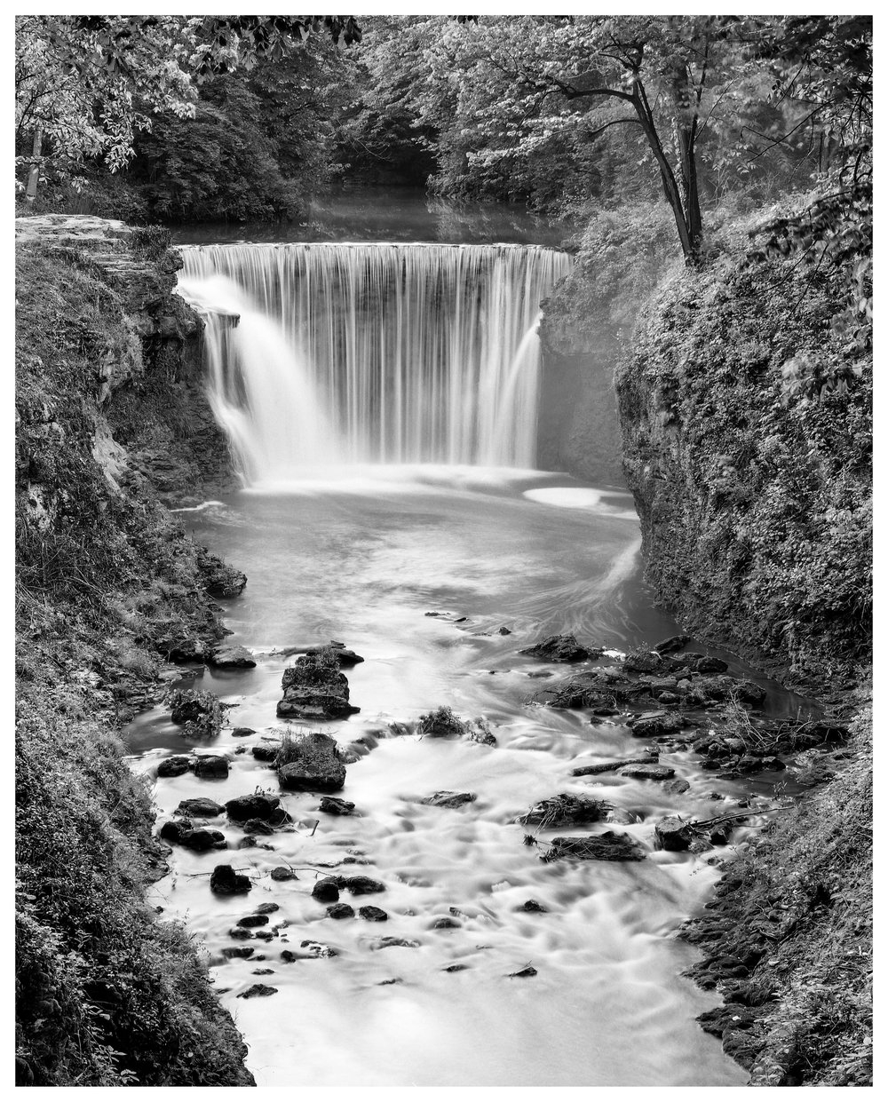 Cedar Cliff Falls - Mamiya RB67 ProS w/90mm lens @ f/16, 30 seconds with a polarizer and 4-stop ND filter on Fuji ACROS 100 film.