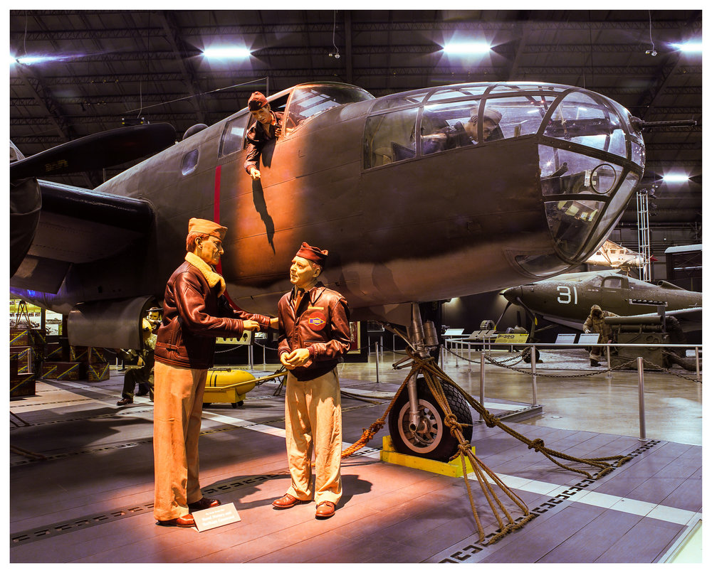 Doolittle Raiders  –  Mamiya RB67 ProS w/50mm f/4.5 lens on 120 Ektar. 240 seconds @ f/16