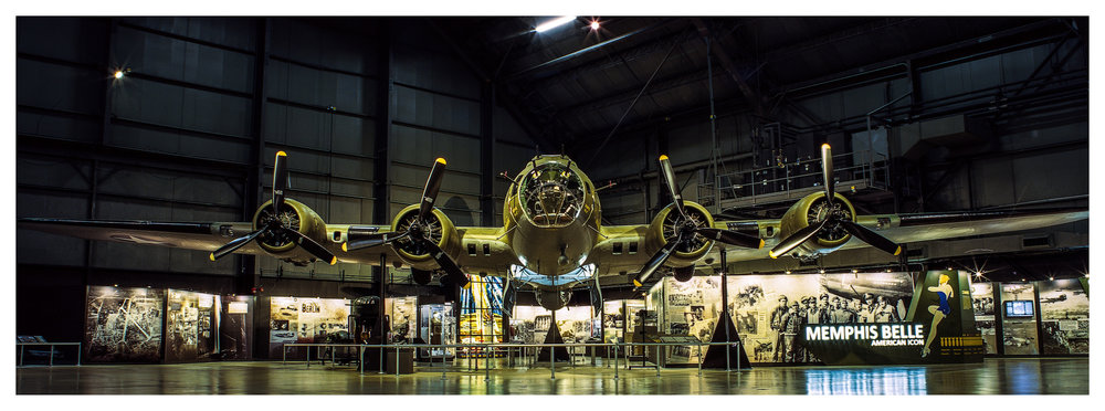 Memphis Belle  A – Mamiya RB67 ProS w/50mm f/4.5 lens on 35mm Ektar in a 220 back. 240 seconds @ f/16