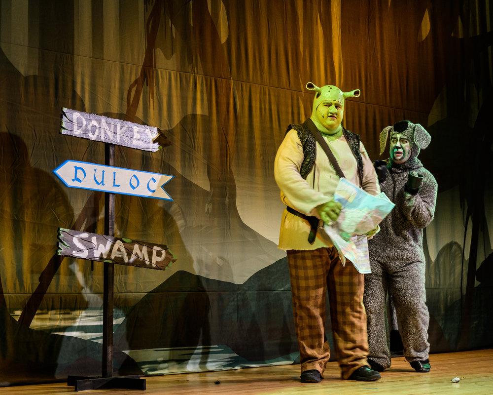 Shrek and Donkey on the way to Duloc