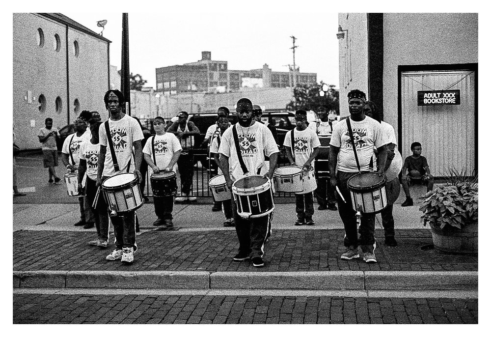 The Scoon Squad in the Oregon District - Nikon F5 with 50mm f/1.4 lens at f/2.8 in A-Priority mode on Kodak TMAX P3200 film