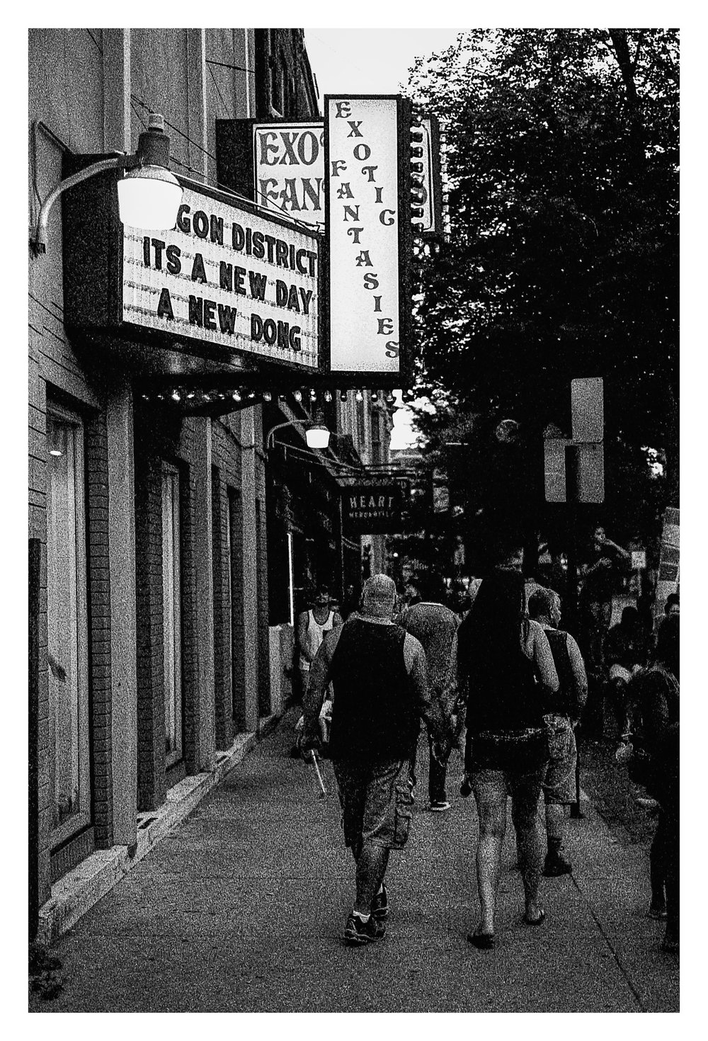 It's a New Day in the Oregon District - Nikon F5 with 50mm f/1.4 lens at f/2.8 in A-Priority mode on Kodak TMAX P3200 film