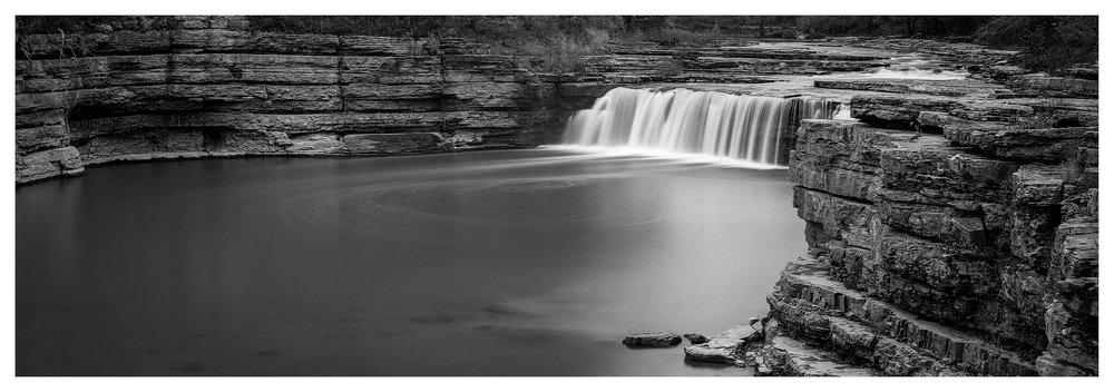 Cataract Lower Falls - Fuji GX617 with ACROS 100 film, long exposure