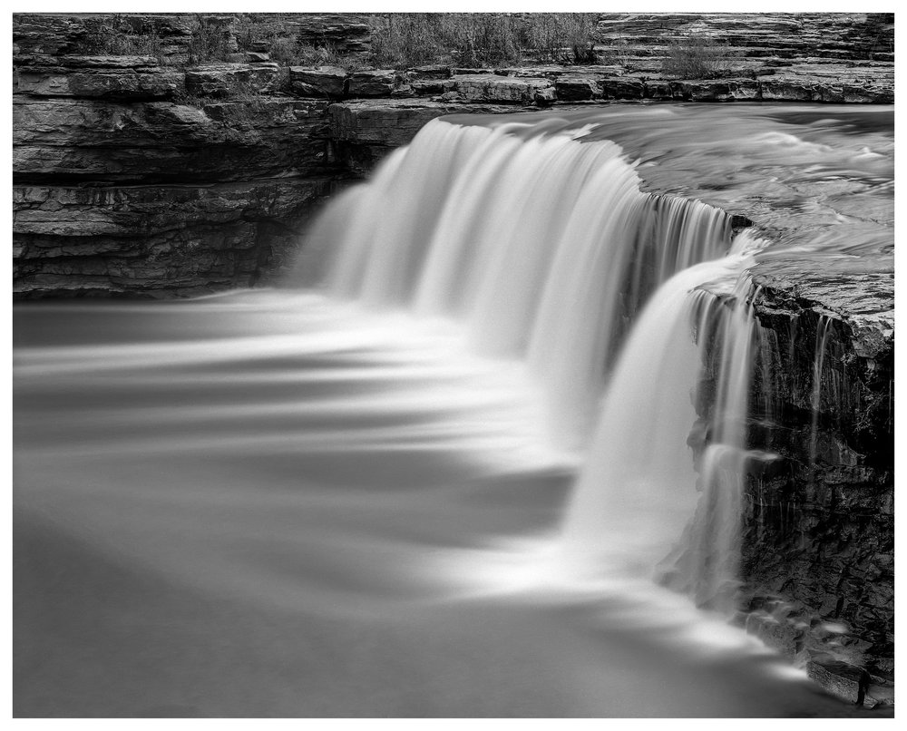 Cataract Lower Falls side view- Mamiya RB67 ProS with ACROS 100 film, long exposure