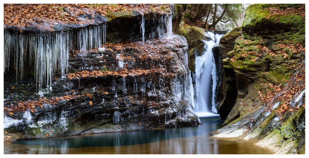Robinson Falls in Winter - this is a smaller crop of an 8-image digital pano stitch - Nikon D750