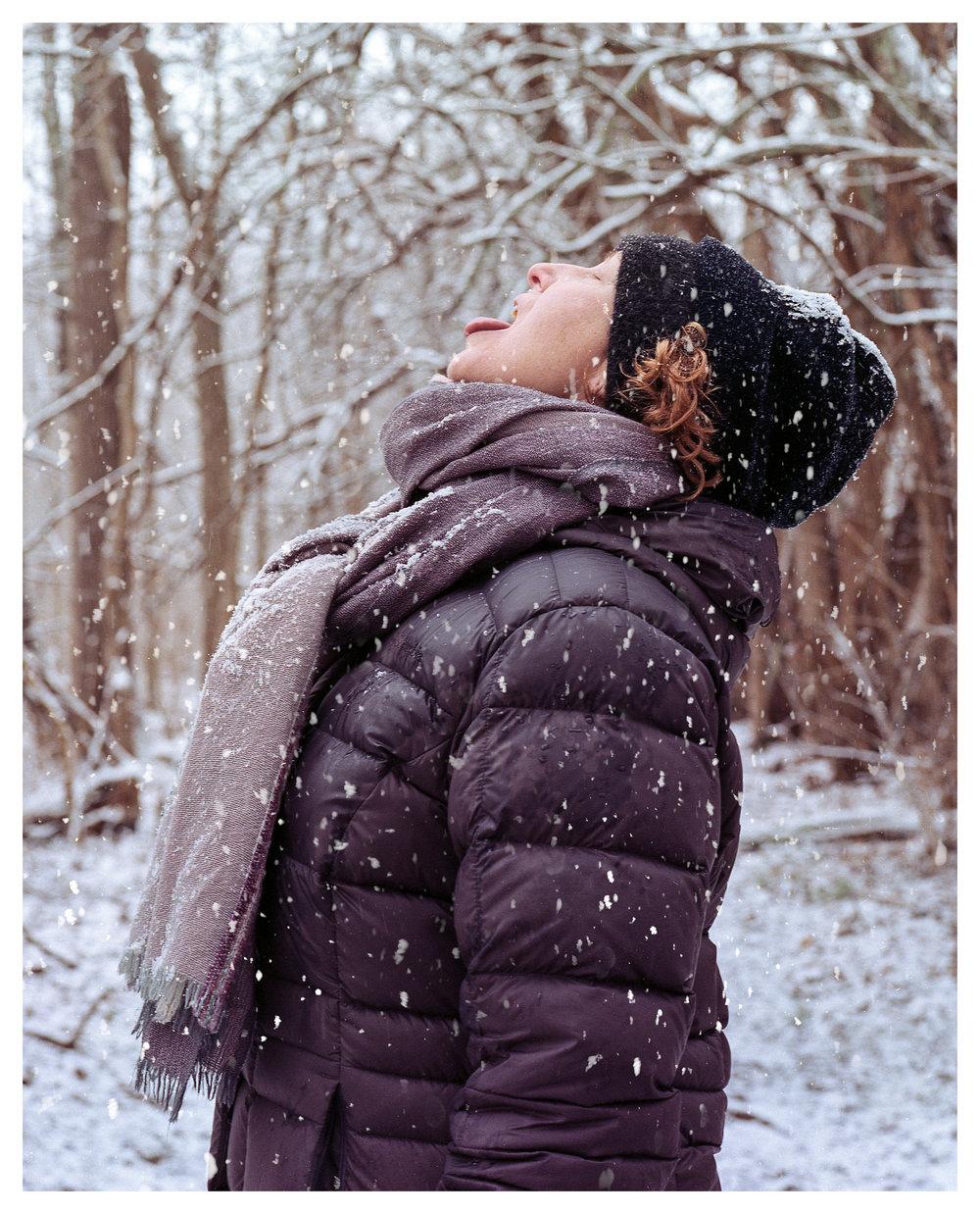Renee on Christmas 2018 Hike - Kodak Portra 400 rated at 200, Mamiya 645 ProTL