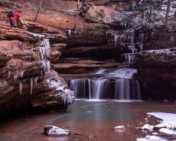 Eric at Middle Falls - image courtesy of Bob Blum