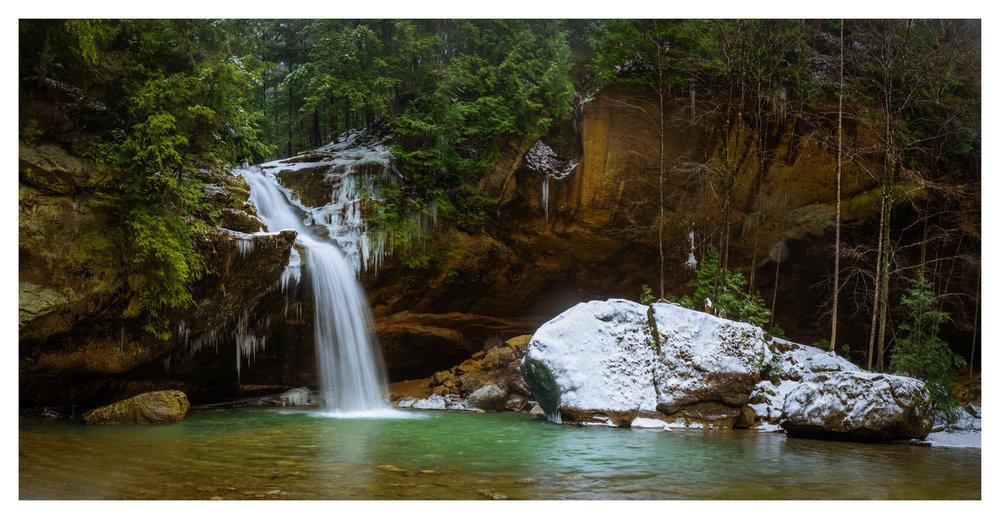 Lower Falls - 18 image Digital Pano Stitch
