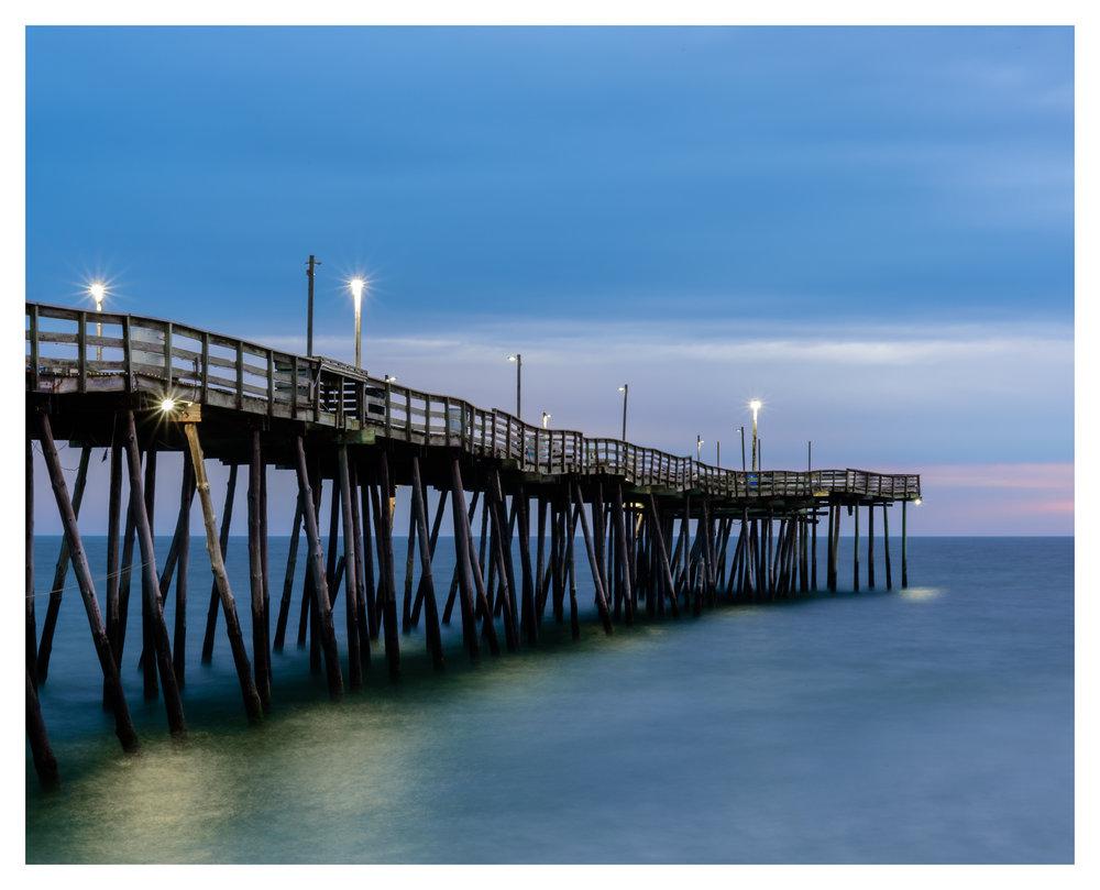Avalon Fishing Pier in the Blue Hour - Nikon D750 w/24-85mm lens, long exposure