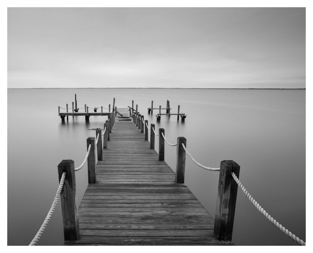"Broken ""T-dock"" at Duck - Nikon D750 w/24-85mm lens, long exposure"