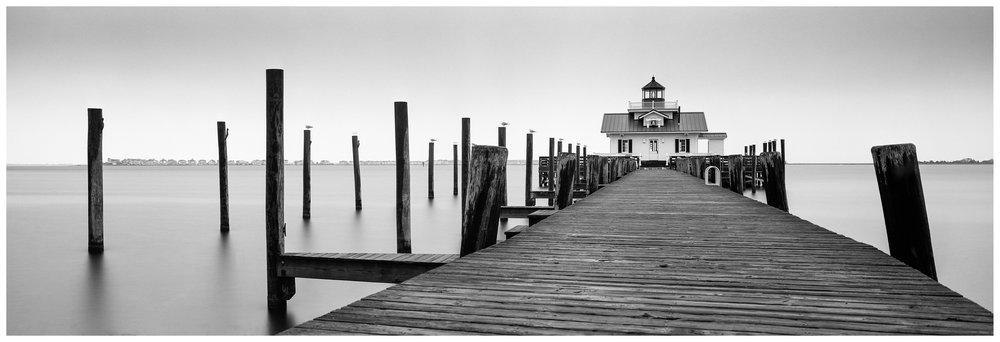 Roanoke Marshes Lighthouse - Fuji GX617 w/105mm lens on Fuji ACROS film, long exposure