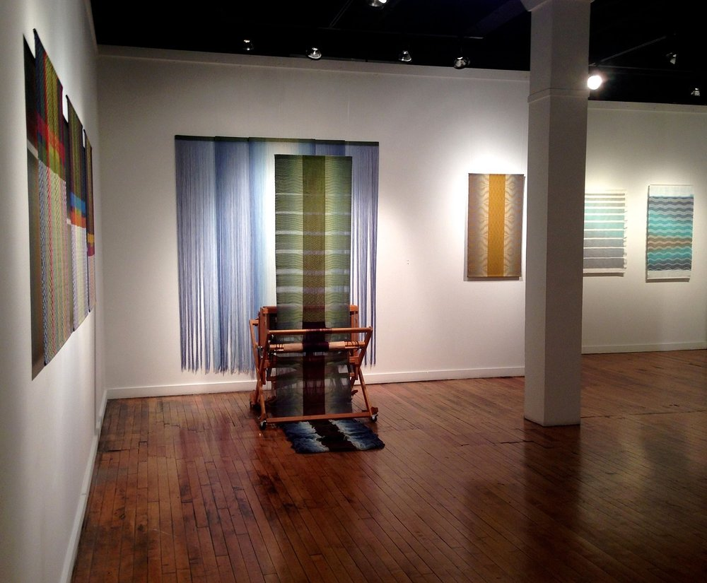 One Thread at a Time; handwoven textiles by Debbie Barrett-Jones   Leedy-Voulkos Art Center   Kansas City, MO