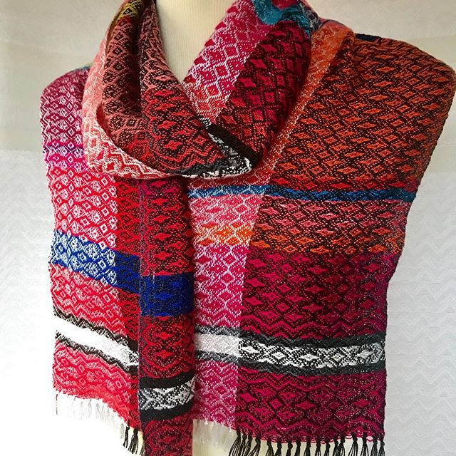 One of my newest woven scarves.