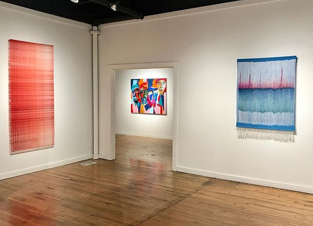 One Thread at a Time II Debbie Barrett-Jones Back Gallery March 1 - April 27, 2019  I love seeing @haroldsmithart work next to mine. First Friday Opening at @leedyvoulkosartcenter 6-9pm. Hope to see you tonight.
