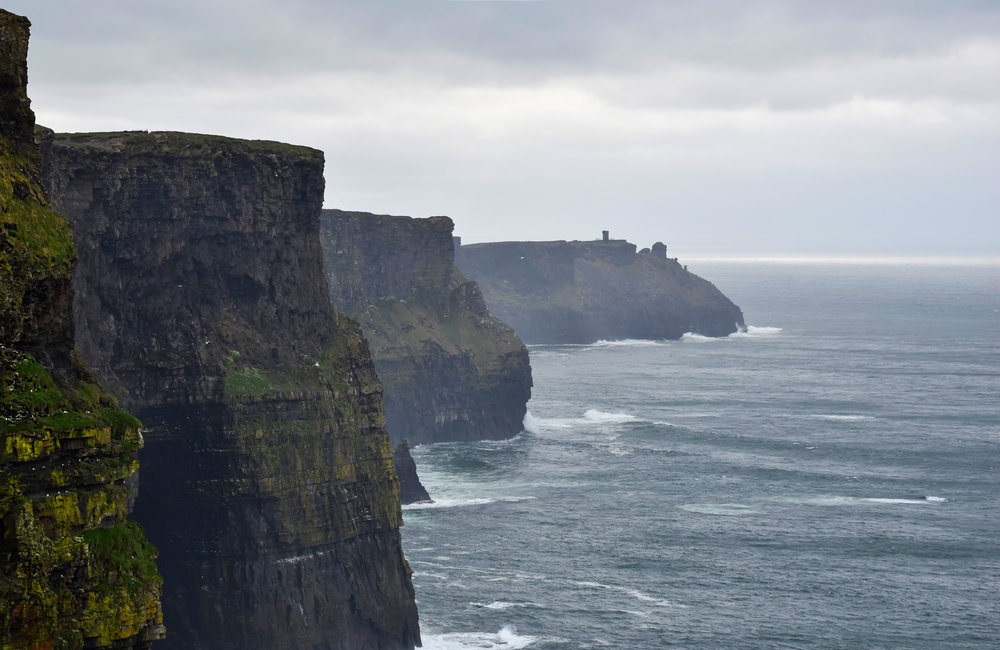 "The Cliffs of Moher (pronounced ""more"") were a few minute's drive from our AirBnb. (Get directions by clicking the image.)"