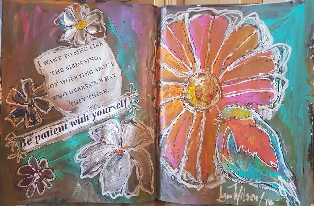 lynn wilson - Journal 11th page I Want To Sing Like The Birds whole spread .jpg