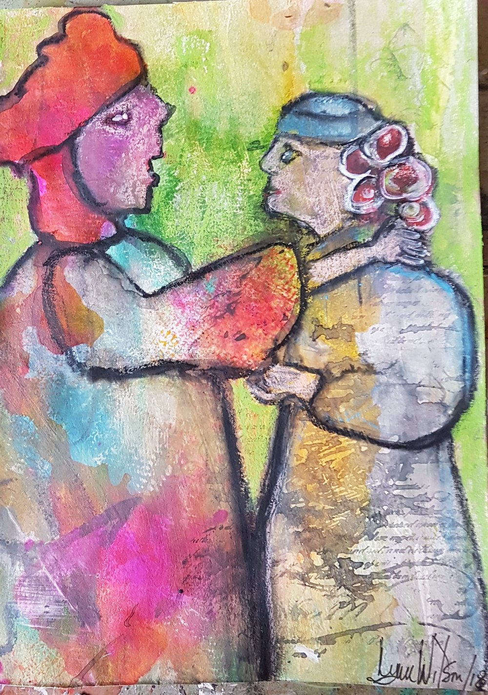 Forgiveness new piece not sure what its about June 19 2018    two people facing each other one with hand on others shoulder.jpg