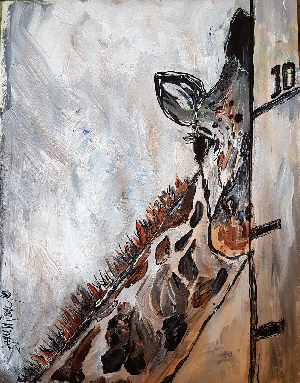 Fondas Animal Challenge Giraffe Painting June 10 2018 .jpg