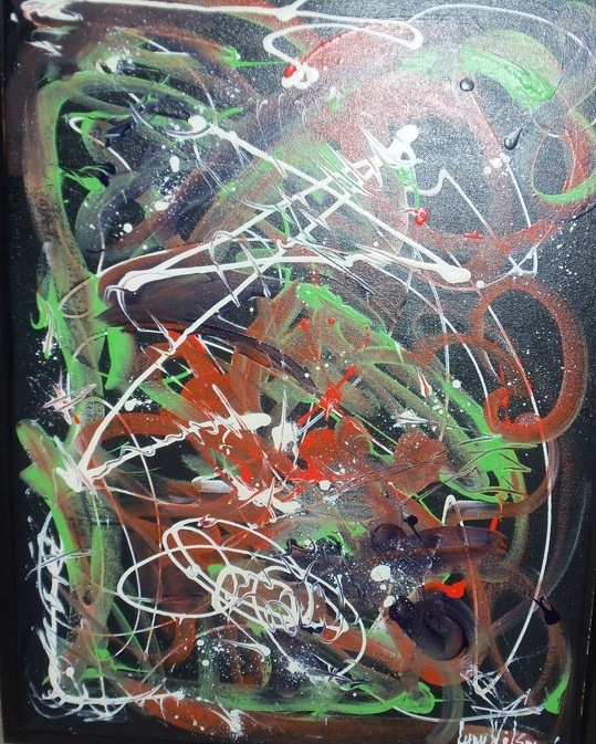 580_Abstract_Black_Orange_Green_Purple_White_Framed (1).JPG