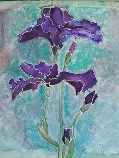 Silk hand painted bearded iris from pinterest post.jpg