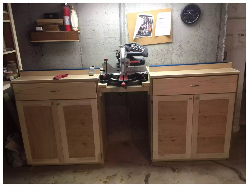 Completed Miter Saw Station
