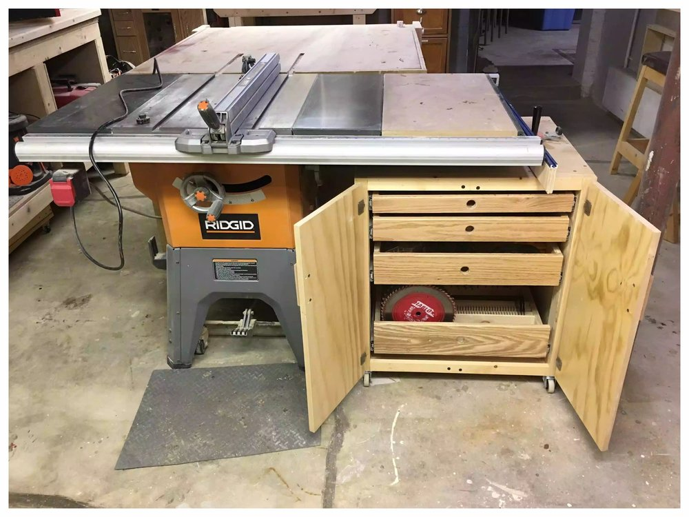 Tabelsaw Accessories Cabinet