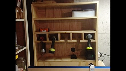 Cordless Drill Storage Cabinet
