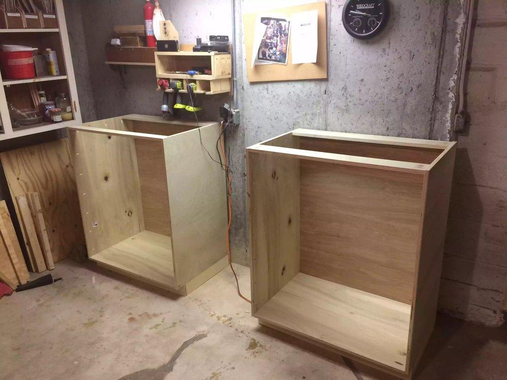 Cabinet Carcass built.