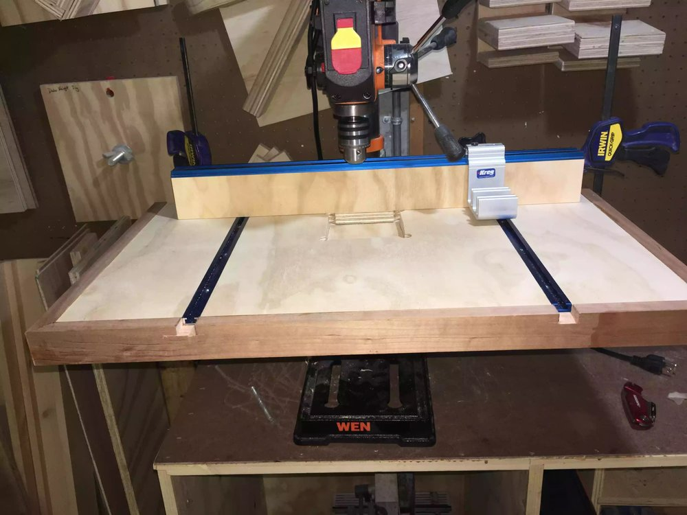 Drill Press Table Finished