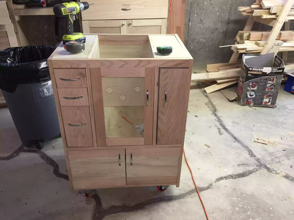 Cabinet is built