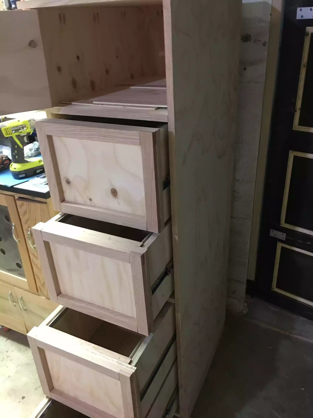 False fronts added to the drawers