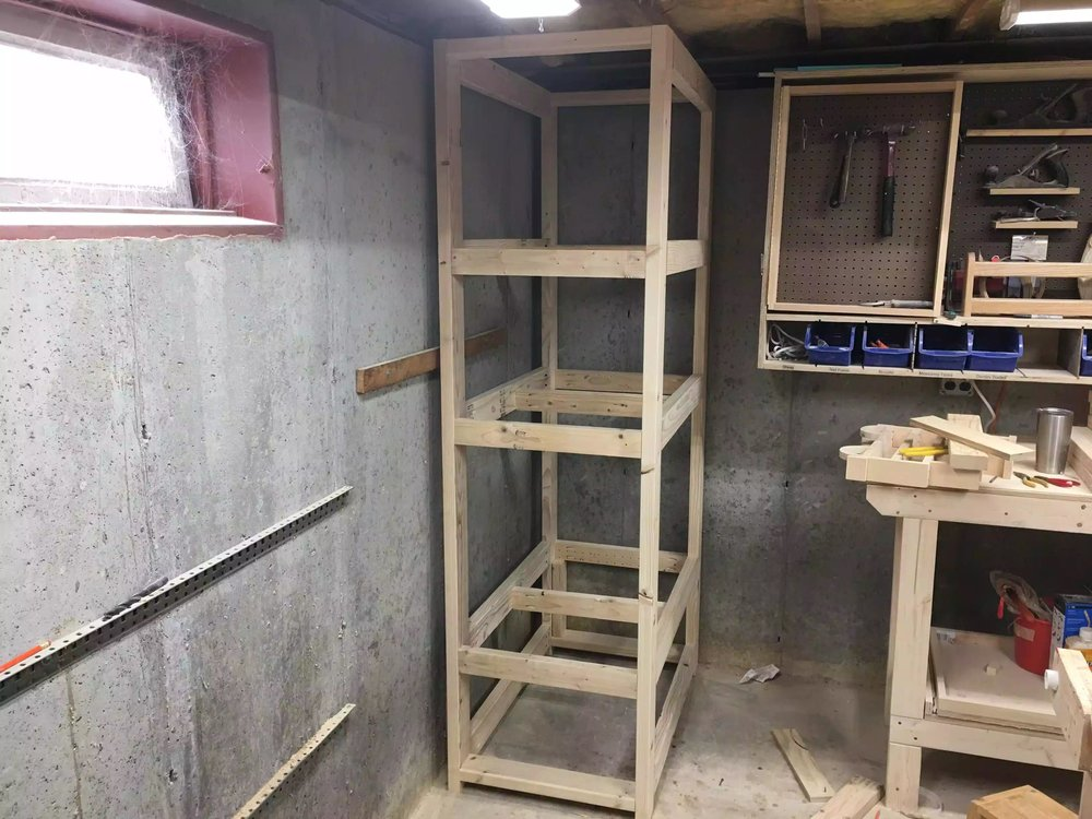 Shelving Unit Framing