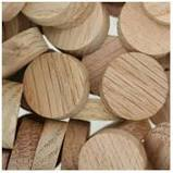 "These are the plugs I used on this project 3/8"" Oak plugs"